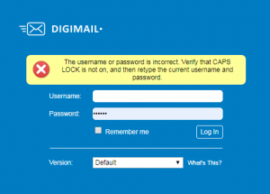 digimail password reset