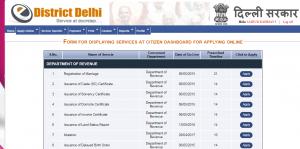 e-district service delhi