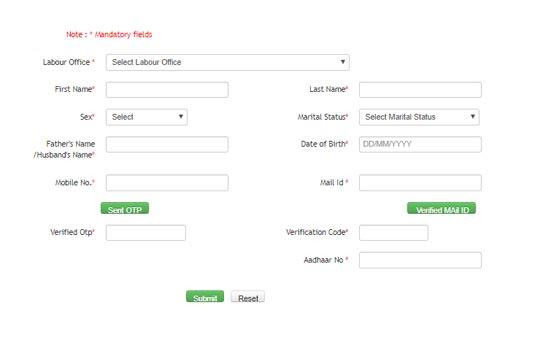 labour card odisha application form