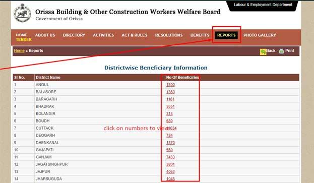 odisha labour card list check