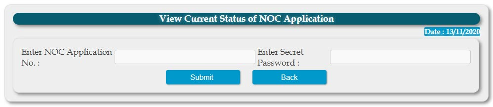 check status of NOC