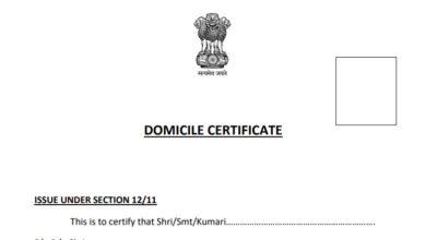 domicile certificate Assam for PAn
