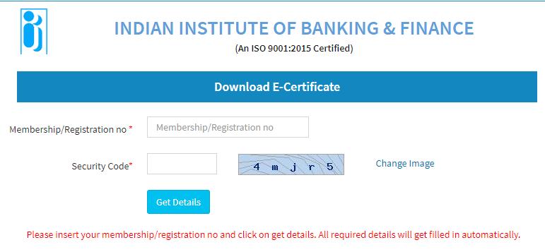 download iibf certificate