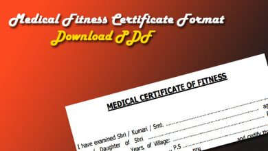 Photo of Medical Fitness Certificate PDF – Download Form/Format