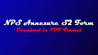 Photo of NPS Form S2 PDF- Annexure S2 Form Download