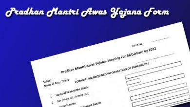 Photo of Pradhan Mantri Awas Yojana Form PDF 2021-22