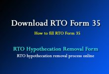Photo of RTO Form 35 See Rule 61(1) – Hypothecation Cancellation Online